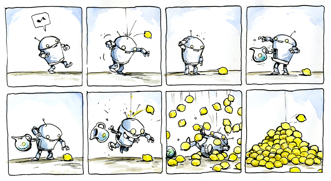 Art and Adventure: Robot Comic #17